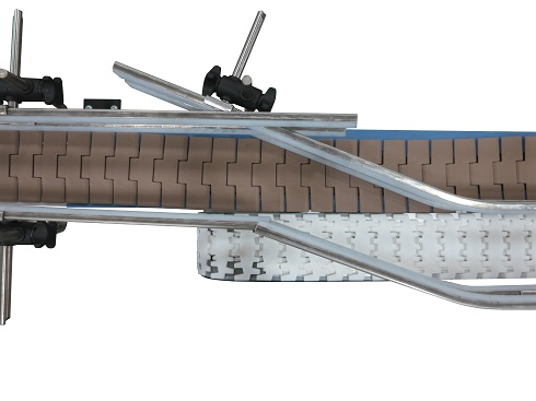 Adjustable guiding on AquaGard 7100 Series Conveyor