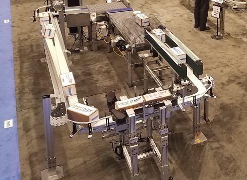 1100 Series Miniature conveyors on display at Expo